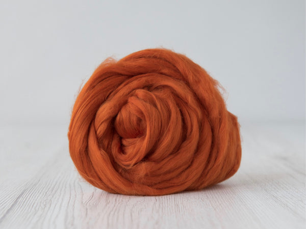 Cotton Sliver- 50g & 100g- Pumpkin (DHG)