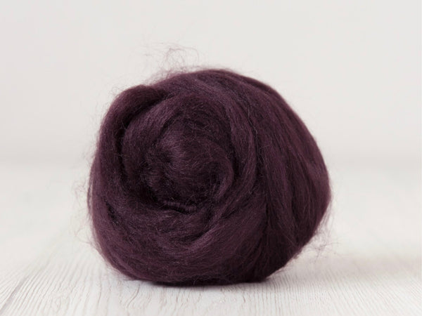 Tussah Silk Tops- 100g- Purple (DHG)