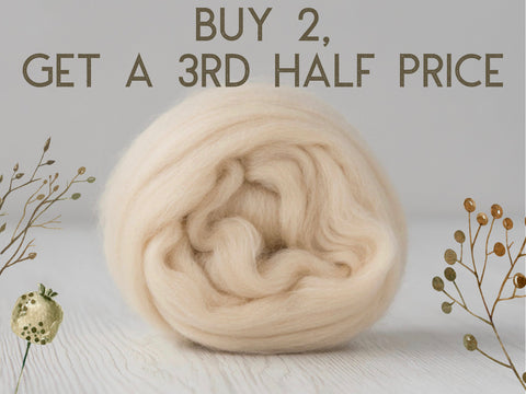 Superfine, 19 micron Merino. Naturally Dyed. 50g-Starch (DHG)