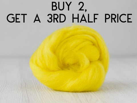 bright yellow merino wool