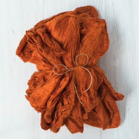 Orange Silk Hankies