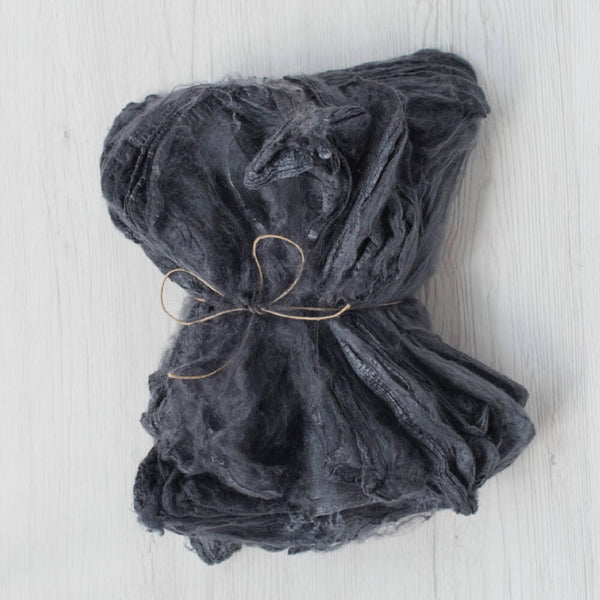 Dark Grey Silk Hankies