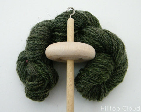 Drop Spindle, Top Whorl, 35g - Hilltop Cloud