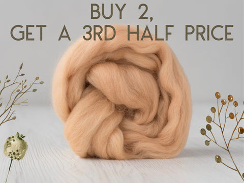 Superfine, 19 micron Merino. Naturally Dyed. 50g-Parchment (DHG)