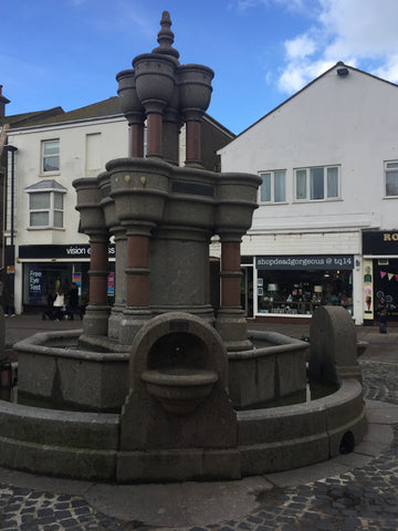 the water fountain in the triangle teignmouth
