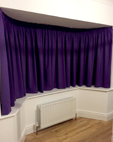 homemade purple curtains