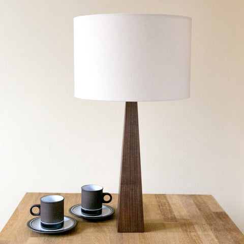 Natural Cream Wooden Table Lamp