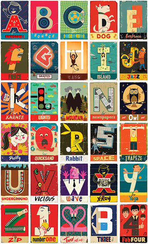 Paul Thurlby Alphabet Print