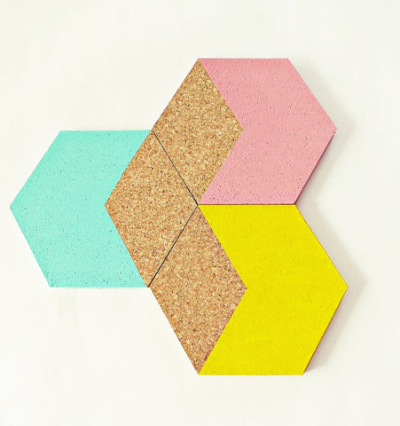 Hexagon Cork Coasters