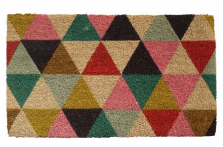 Geometric door mat