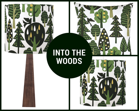 Woodland lamps, shades and cushions
