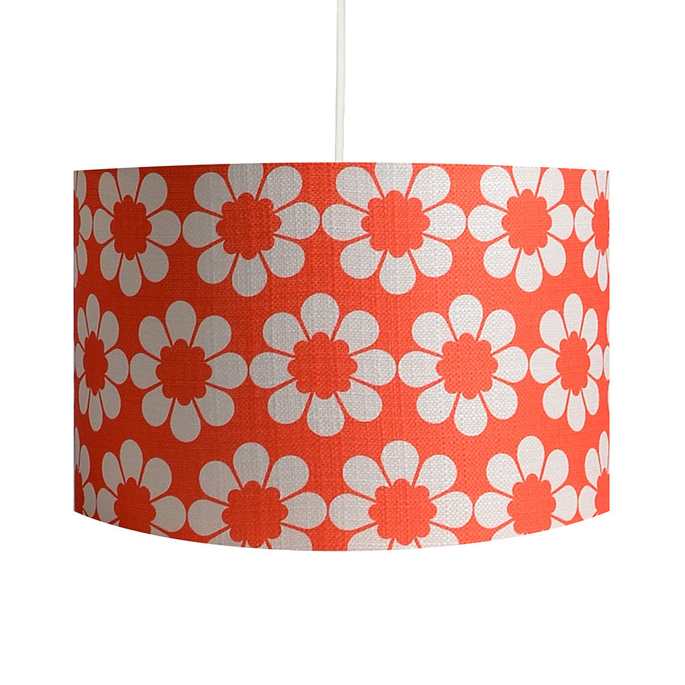 Isobel's Flowers Red Lampshade - hunkydory home