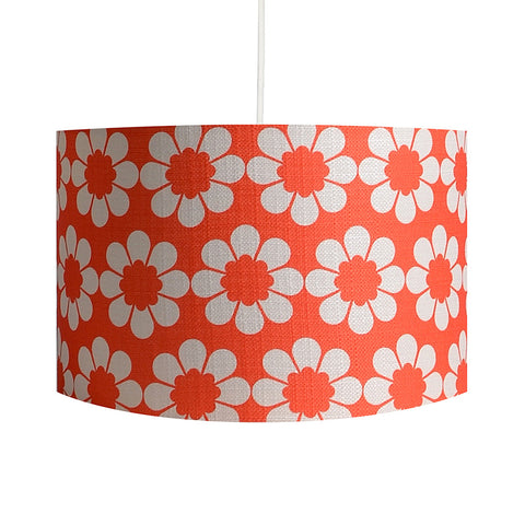 Isobel's Flowers Red Lampshade