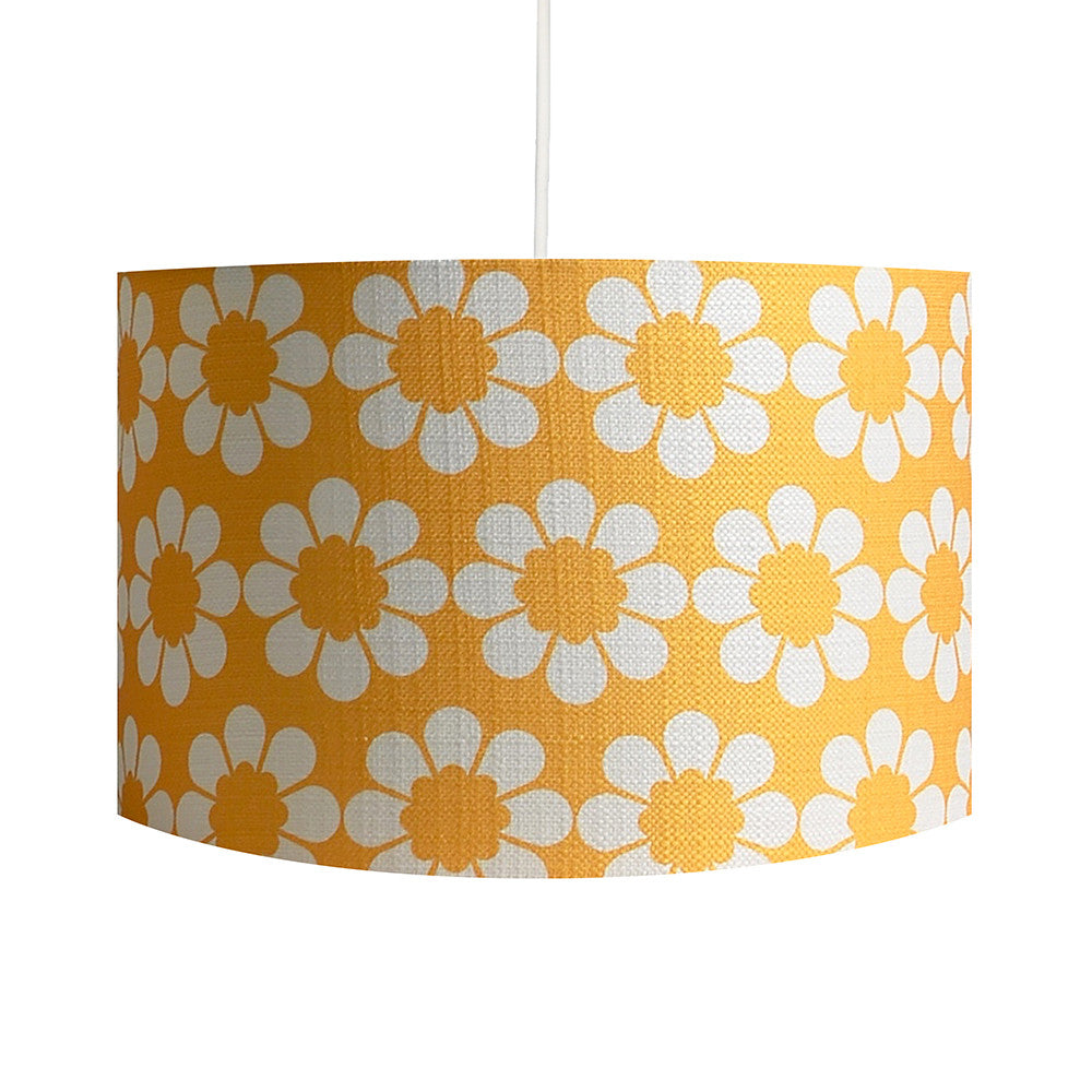 Isobel's Flowers Yellow Lampshade - hunkydory home