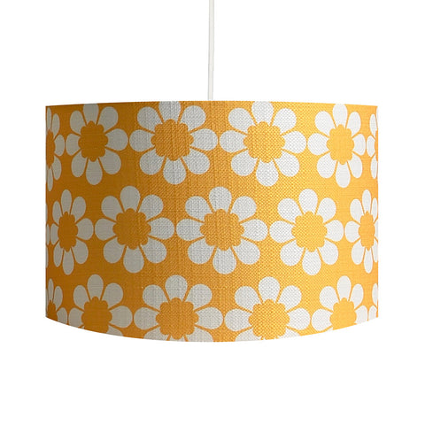 Isobel's Flowers Yellow Lampshade