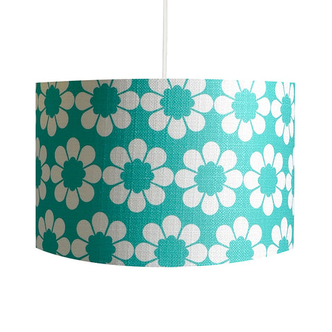 Isobel's Flowers Teal Lampshade