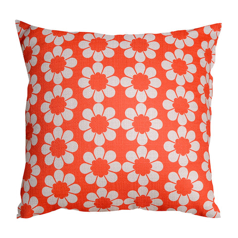 Isobel's Flowers Red Cushion