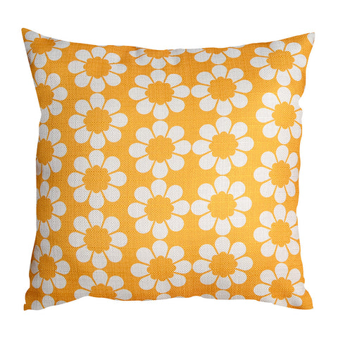 Isobel's Flowers Yellow Cushion