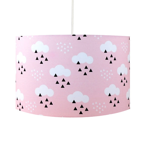Pink Scandi Clouds Lampshade