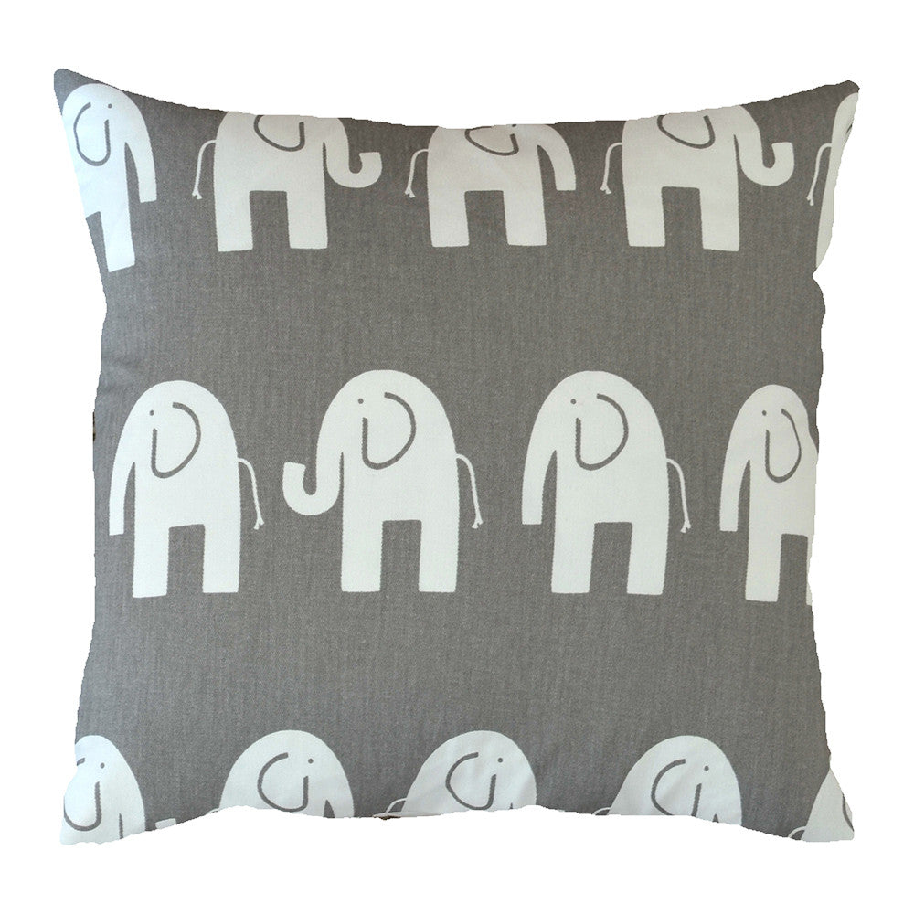 Grey Elephant Cushion - hunkydory home