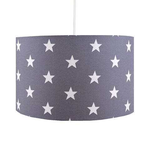 Grey Stars Lampshade