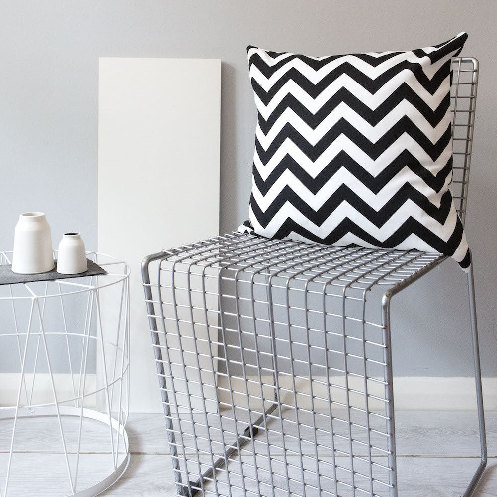 Monochrom Zig Zag Cushion - hunkydory home  - 1
