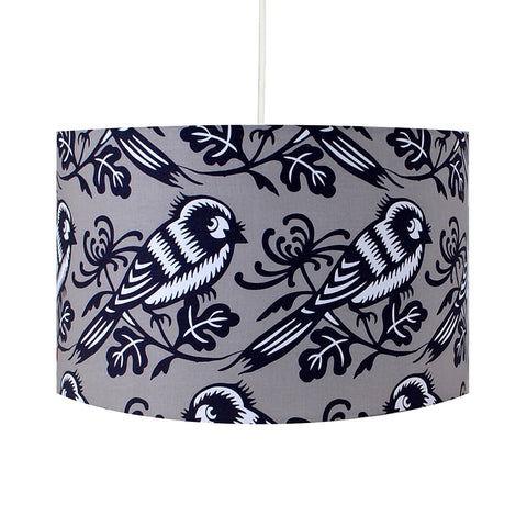 Grey Birdy Lampshade