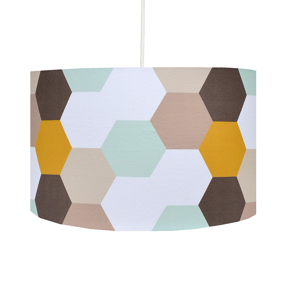 Retro lighting lamps shades hunkydory home hexagons lampshade aloadofball Choice Image