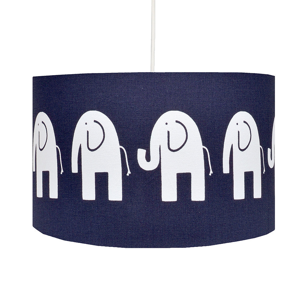 Navy Elephant Lampshade - hunkydory home