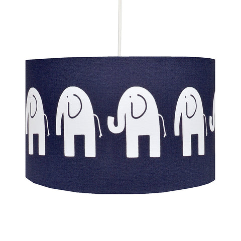 Navy Elephant Lampshade