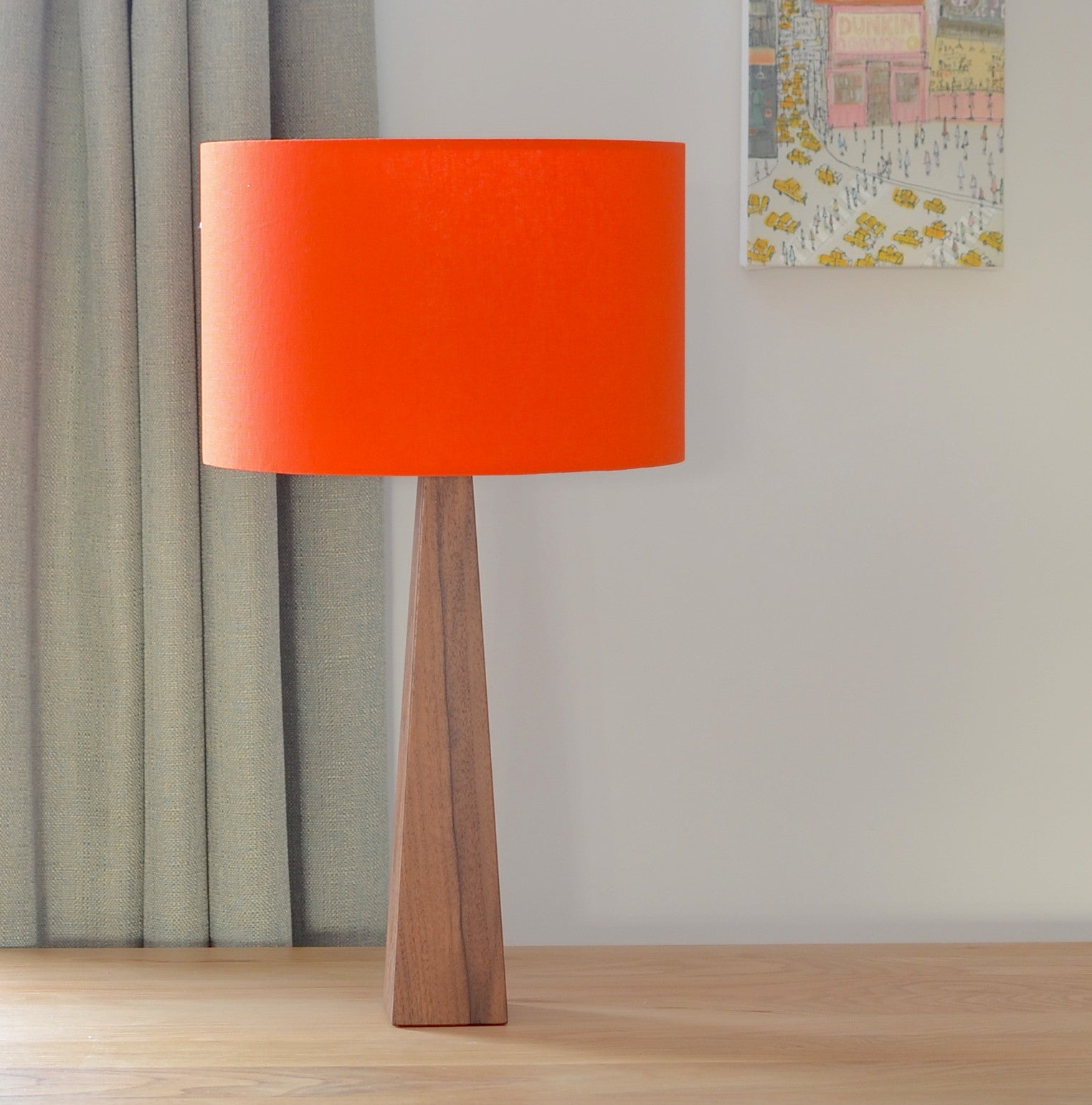 Orange Wooden Table Lamp Hunkydory Home