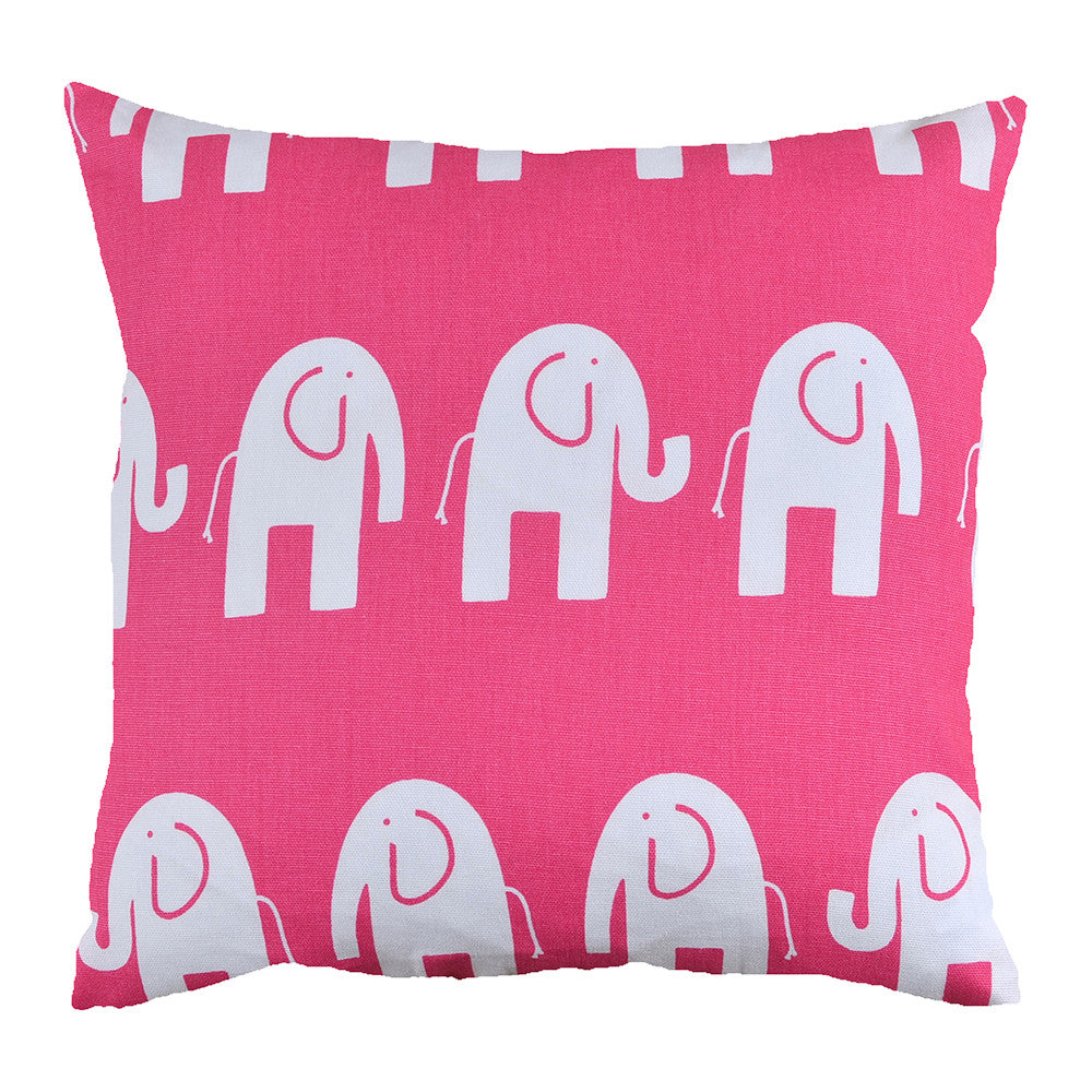 Hot Pink Elephant Cushion - hunkydory home  - 1