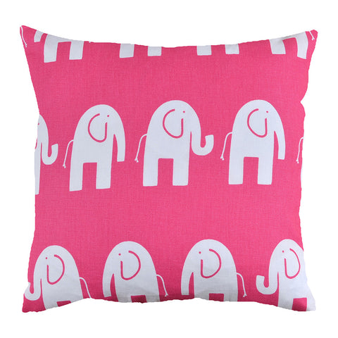 Hot Pink Elephant Cushion