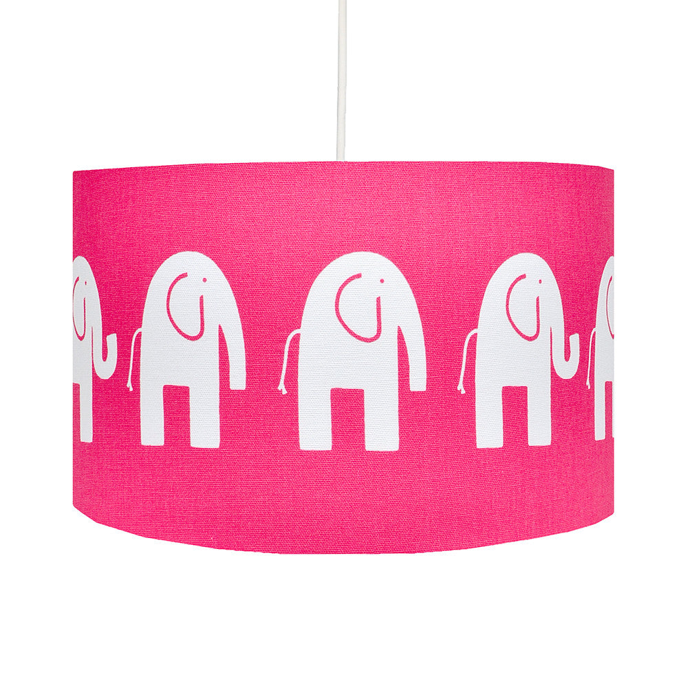 Hot Pink Elephant Handmade Childrens 30cm Lamp Shade – hunkydory home