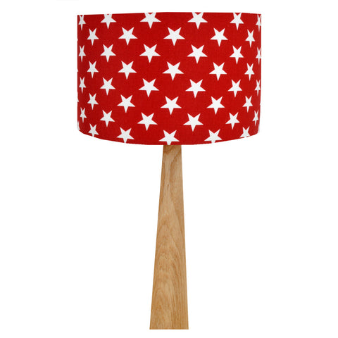 Red Stars Table Lamp
