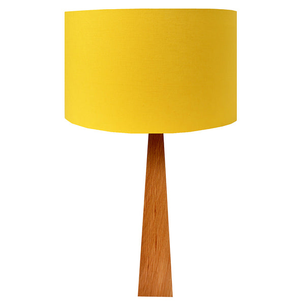 bright yellow wooden table lamp hunkydory home. Black Bedroom Furniture Sets. Home Design Ideas