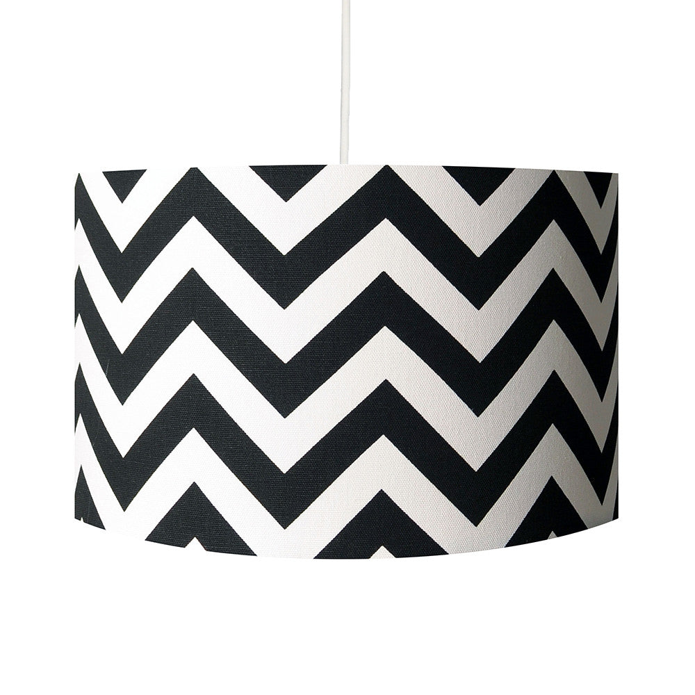Black and white zig zag geometric handmade 30cm lamp shade black and white zig zag geometric handmade 30cm lamp shade hunkydory home aloadofball Image collections