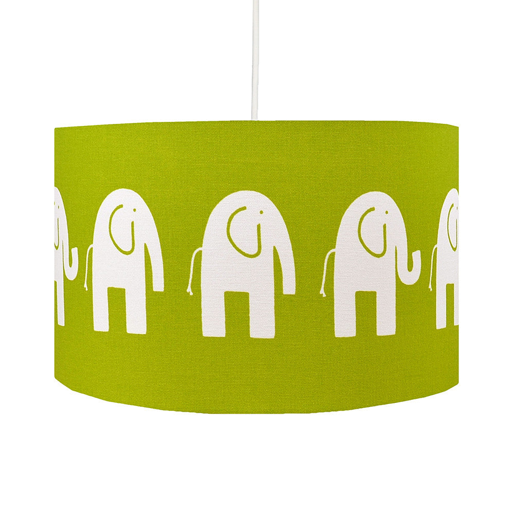 Green Elephant Lampshade - hunkydory home