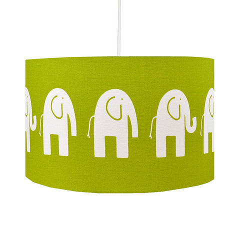 Green Elephant Lampshade
