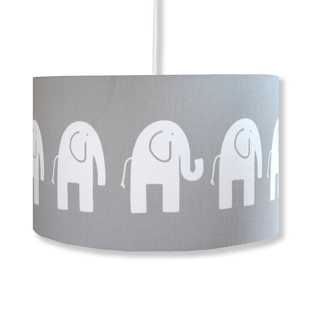 Grey Elephant Lampshade - hunkydory home