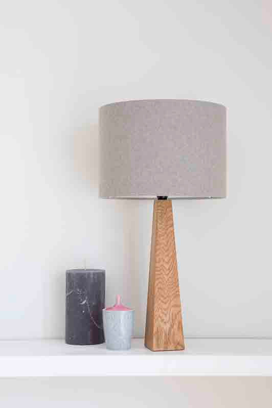Grey Oak table Lamp