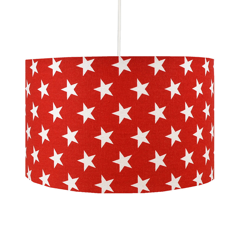 Red Stars Lampshade - hunkydory home  - 1