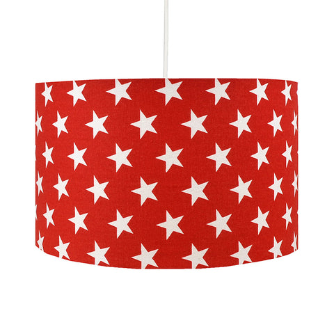 Red Stars Lampshade