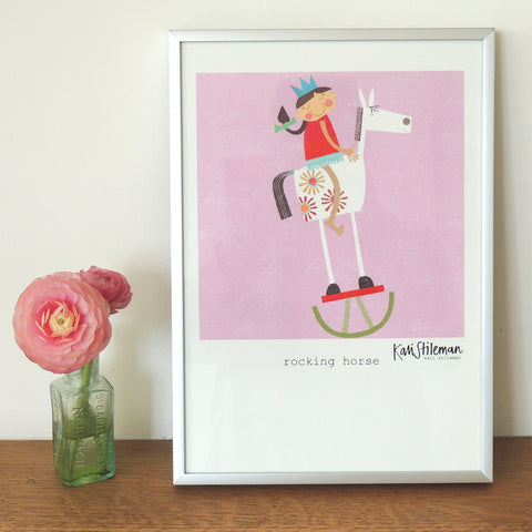 NEW Rocking Horse poster print