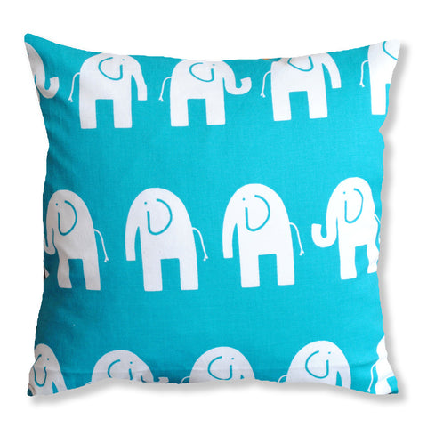 Turquoise Elephant Cushion