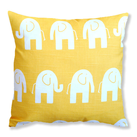 Yellow Elephant Cushion