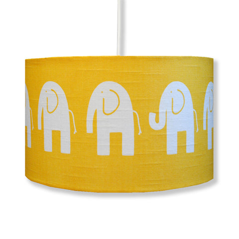 Yellow Elephant Lampshade