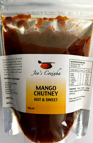Mango Chutney - Hot & Sweet (International or Refill Pouch)