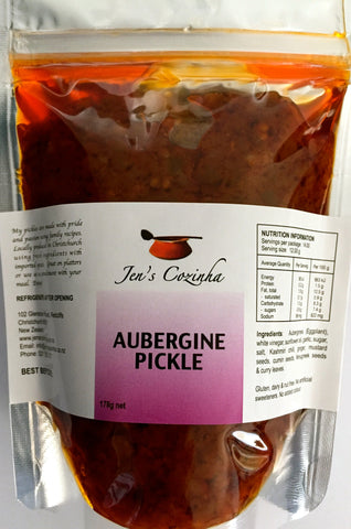 Aubergine Pickle (International or Refill Pouch)