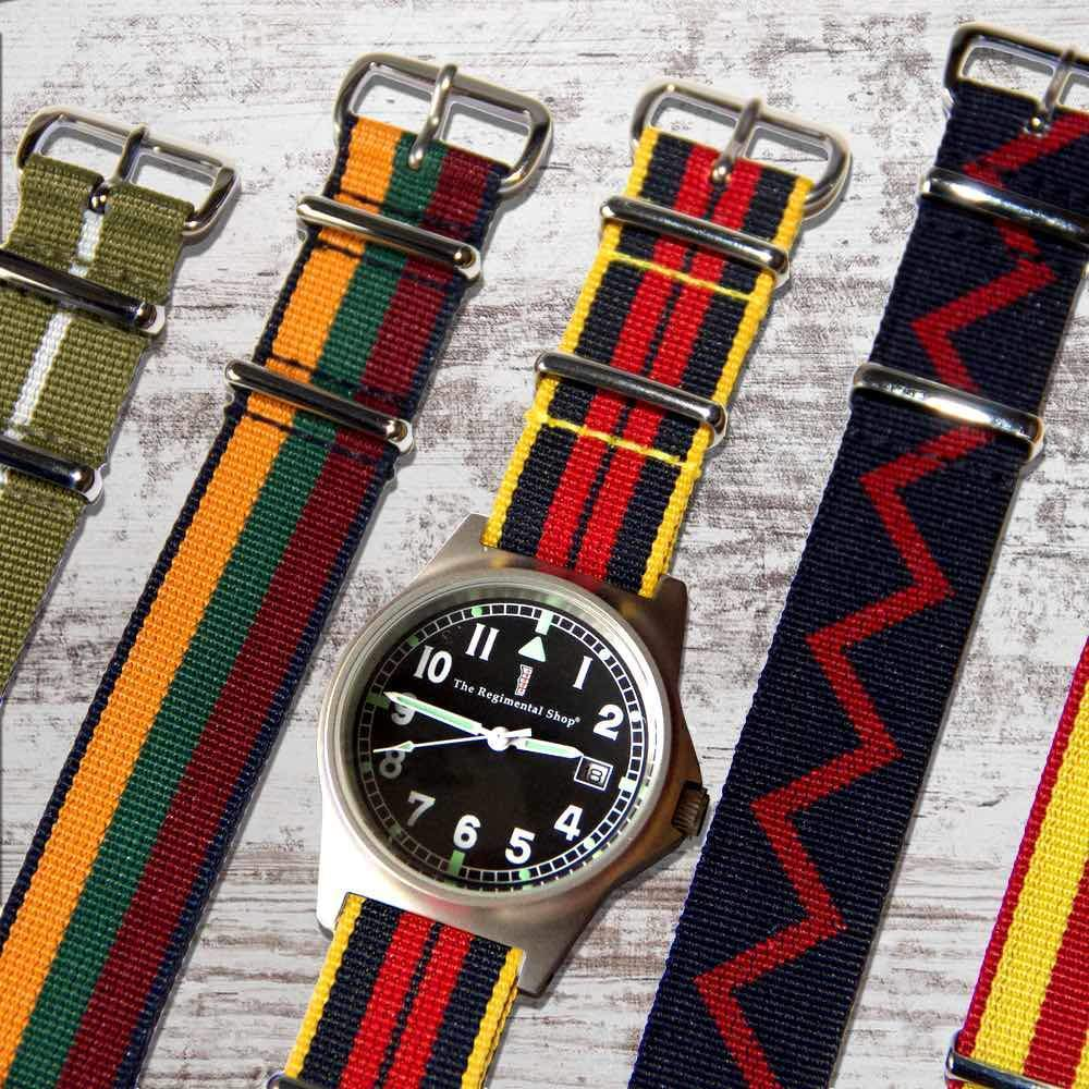 Regimental Watch Straps, NATO Watch Straps, G10 Military Watch, Military Chronograph Watch, Military Watches, Regimental Watches
